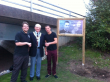 Town Mayor, Cllr. John Kitwood with Marc and Warren
