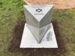 The new dedication incription stone at the Memorial installed by Sam Jacobs Memorials