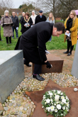 Andrew Percy MP Laying a stone at the Memorial