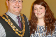 Town Mayor and Mayores of Brigg  2014-15 Cllr. Edward Arnott and his wife Lucy.